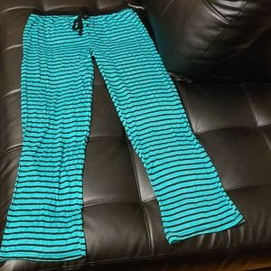 Other - NWT Blue Neon Green Lounge Sleep Pants-Size L